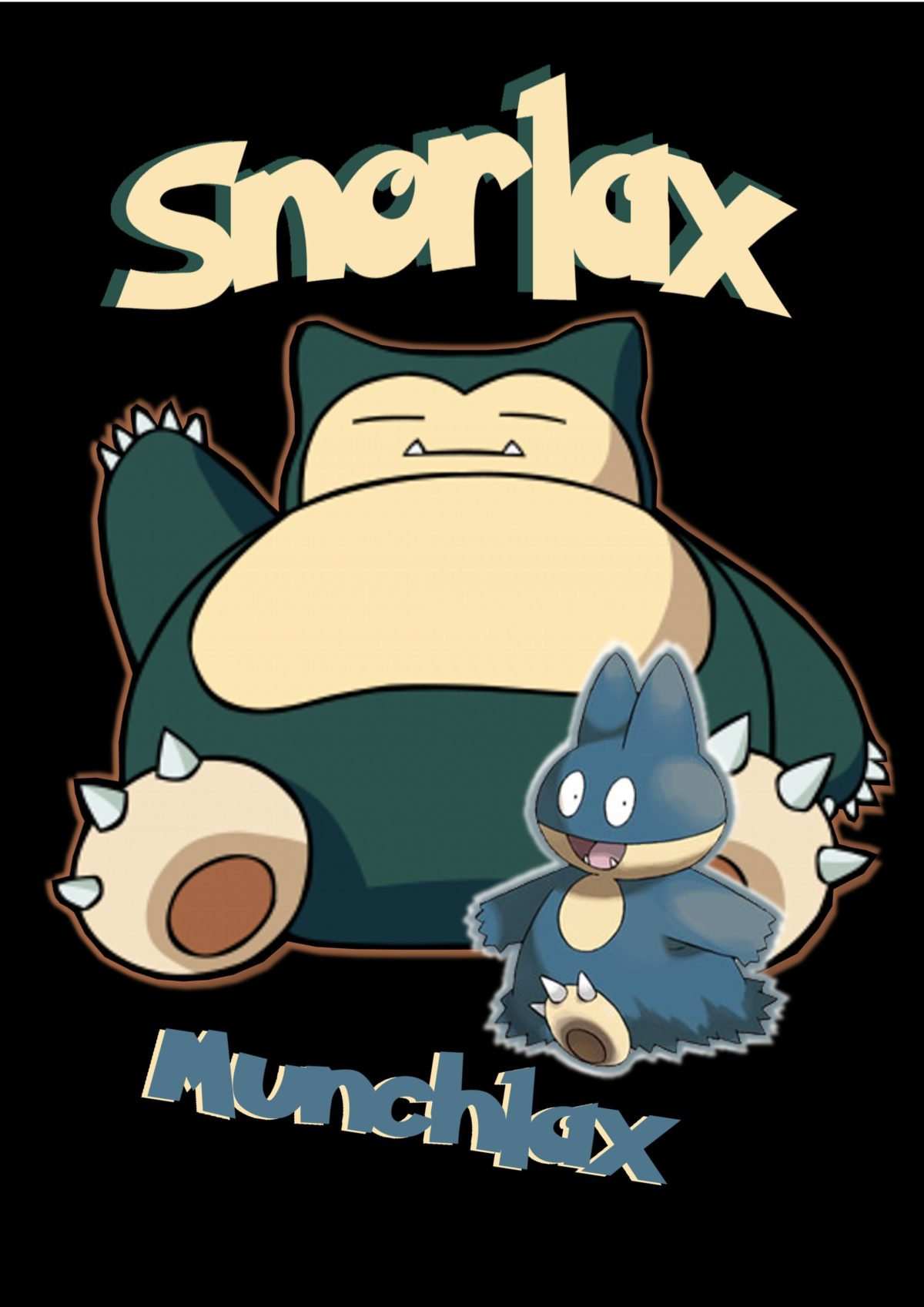 Snorlax and Munchlax (T-Shirt idea) by NordicBerry on DeviantArt
