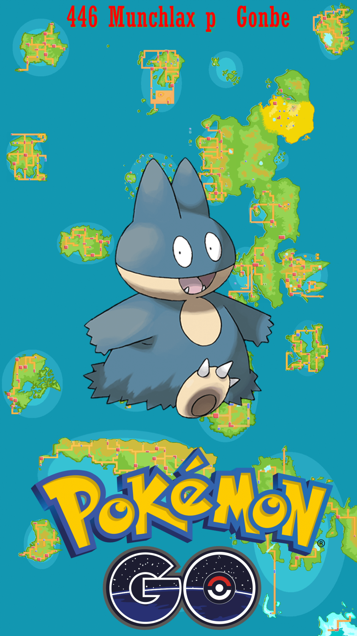446 Street Map Munchlax p Gonbe | Wallpaper