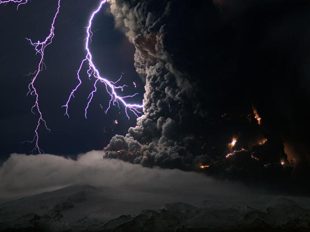 Ash And Lightning From An Icelantic Volcano NASA Wallpaper …