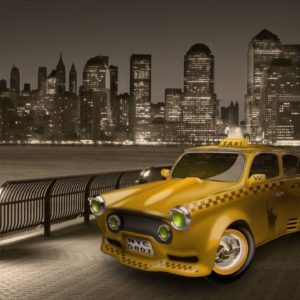 download New York City Yellow Cab widescreen wallpaper | Wide-