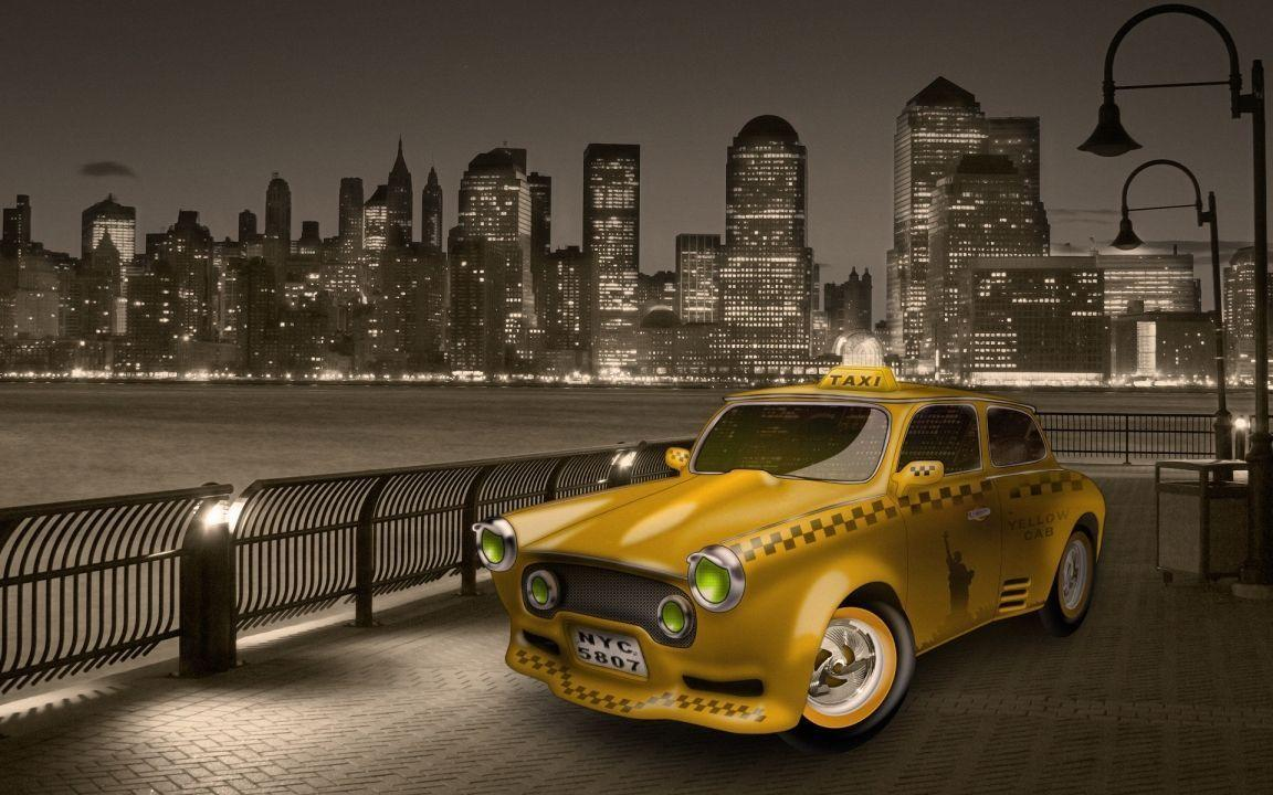 New York City Yellow Cab widescreen wallpaper | Wide-