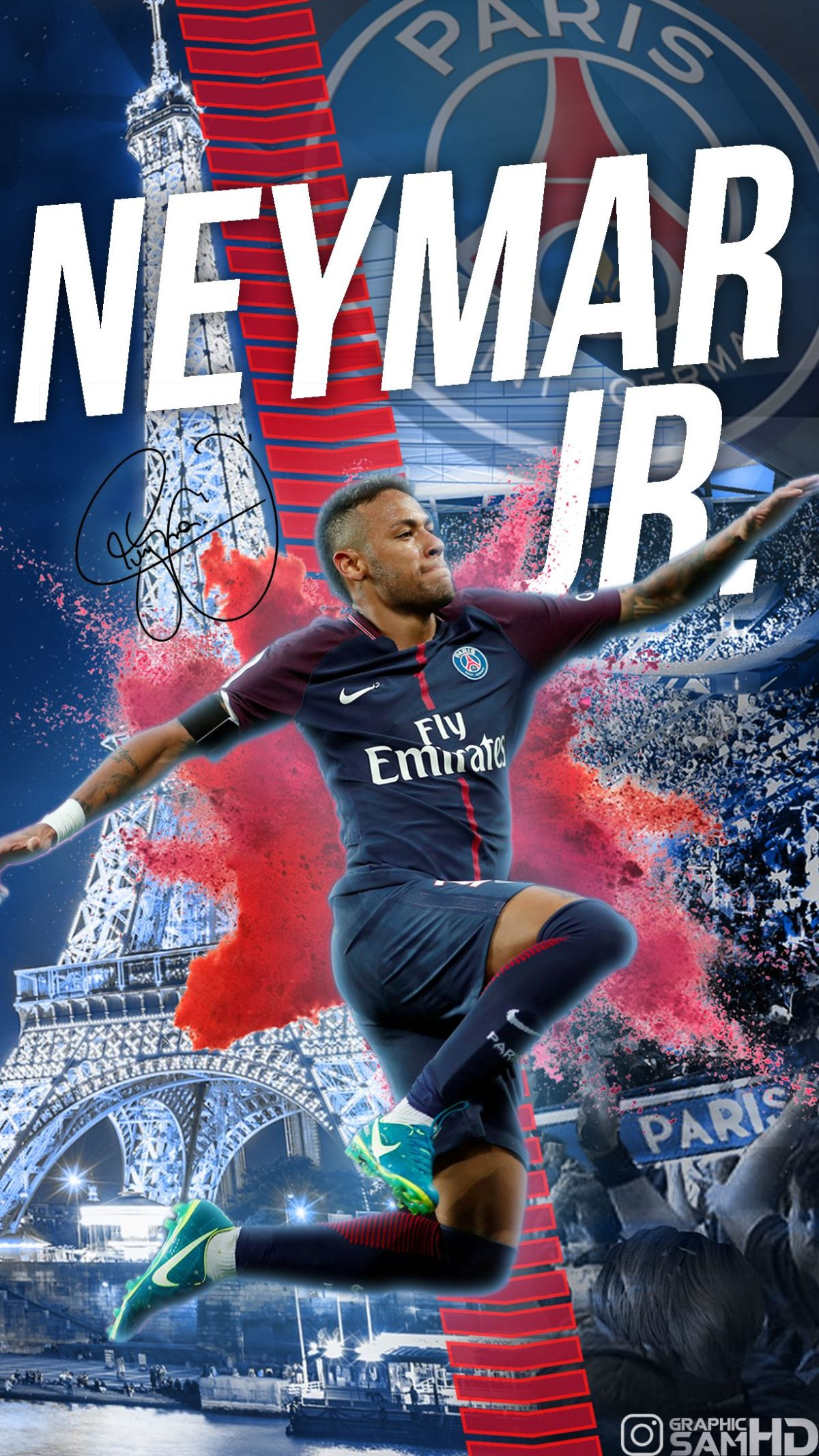 Neymar Jr PSG Phone wallpaper 2017/2018   Neymar jr   Pinterest …