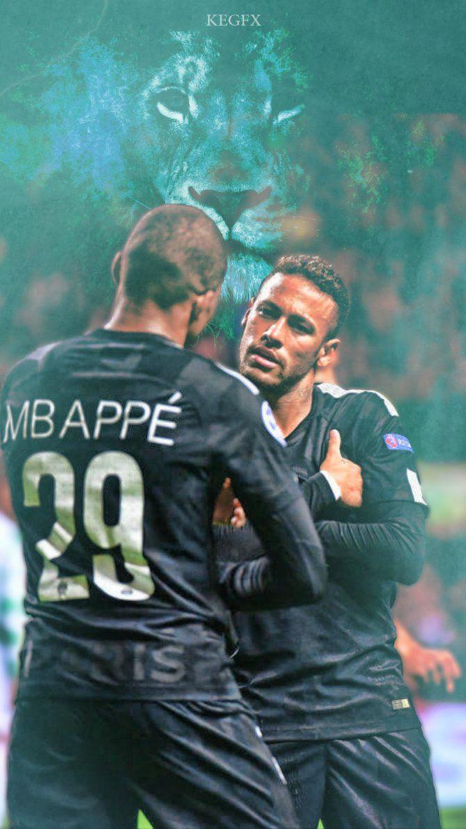 Kylian Mbappe, Neymar Jr Mobile Wallpaper by NewGenGFX on DeviantArt
