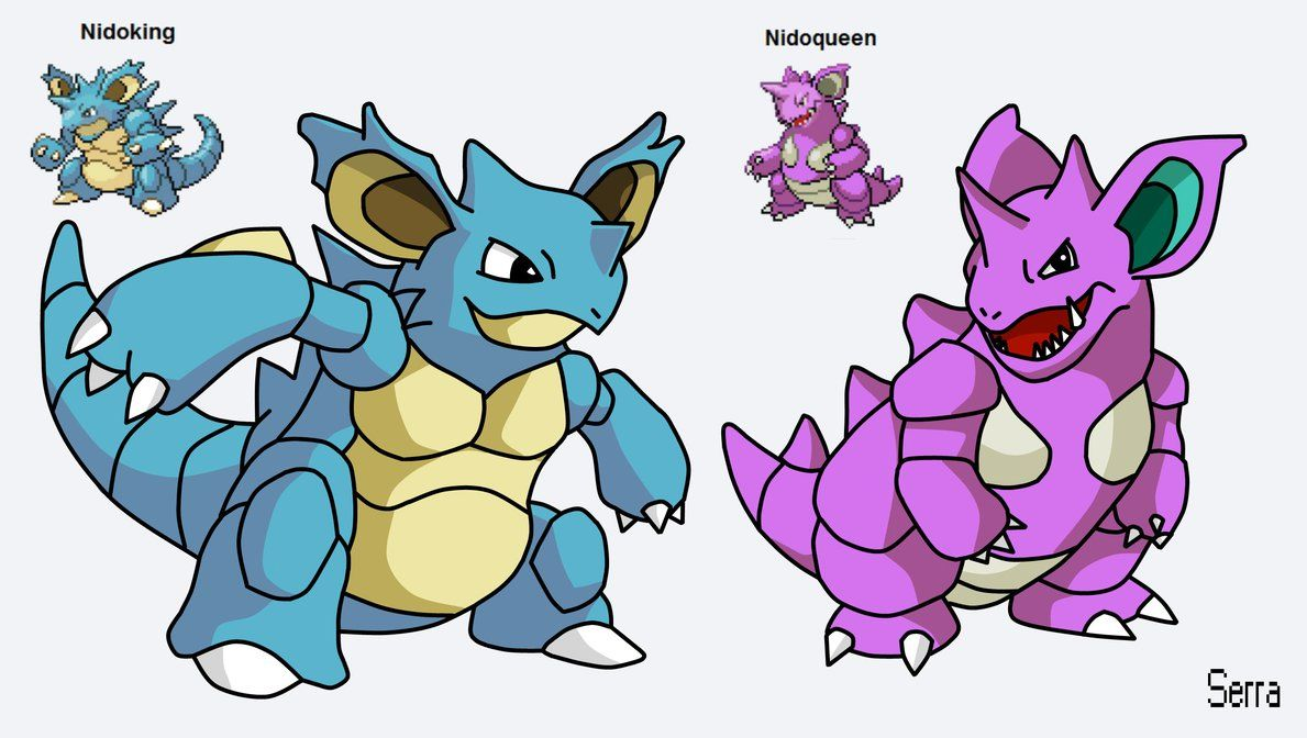 Pokemon Fusion – Nidoking and Nidoqueen by TheSerraVich on DeviantArt