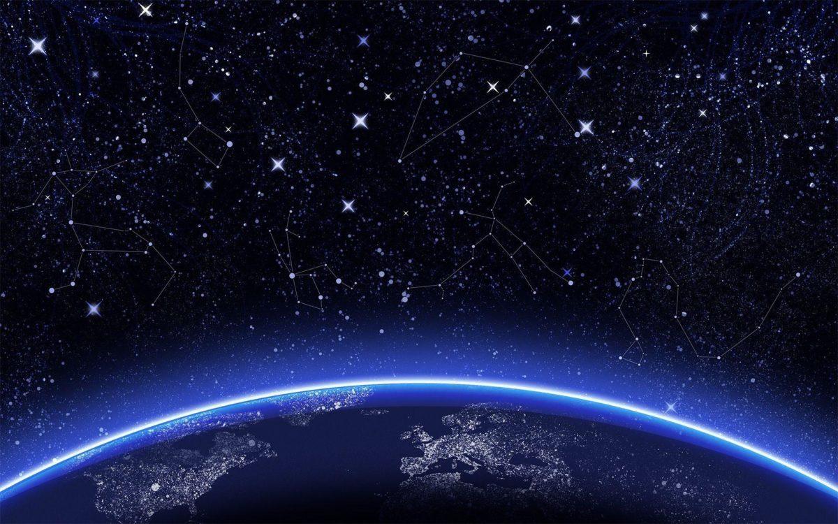 Wallpapers For > Night Sky Stars Wallpaper