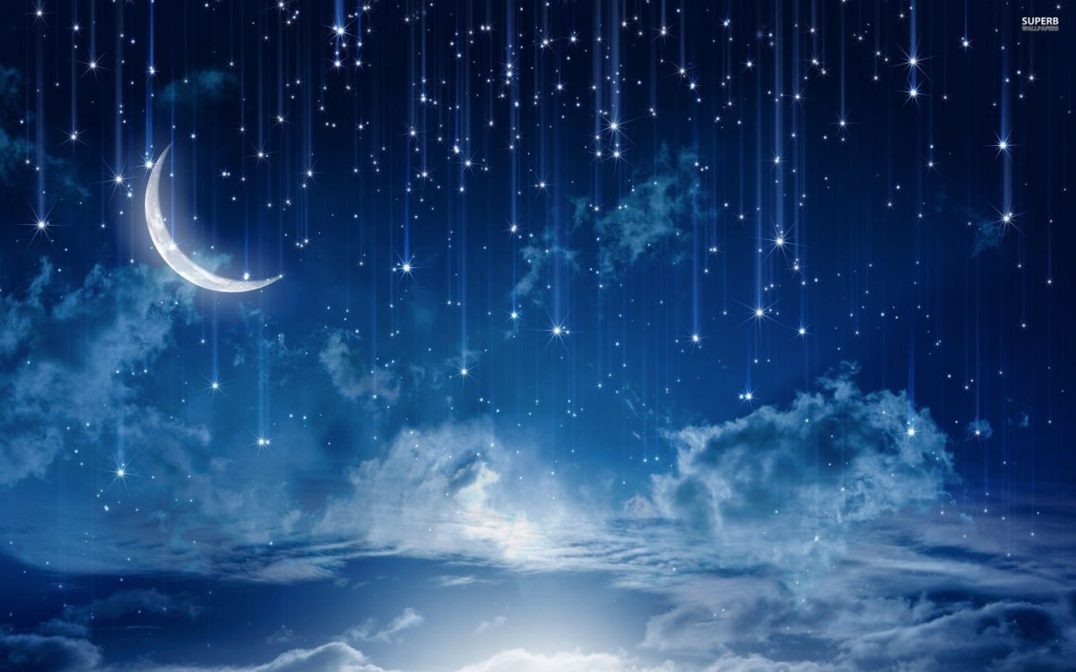 Falling stars : Desktop and mobile wallpaper : Wallippo