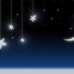 download Night Sky Stars Moon Wallpaper – Tera Wallpaper