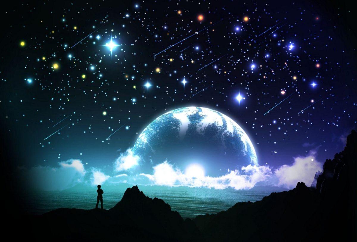 Night Sky Stars Fantasy Wallpaper #5763 | Hdwidescreens.