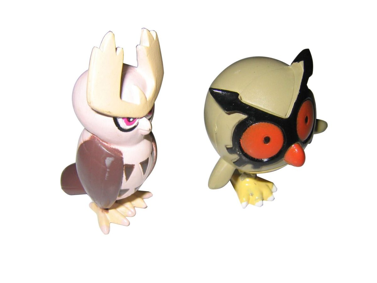 Hoothoot & Noctowl Pokemon Figures | PokemonZone.com