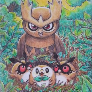download Spearow, Hoot-hoot, Noctowl and Rowlet by Pikabulbachu on DeviantArt