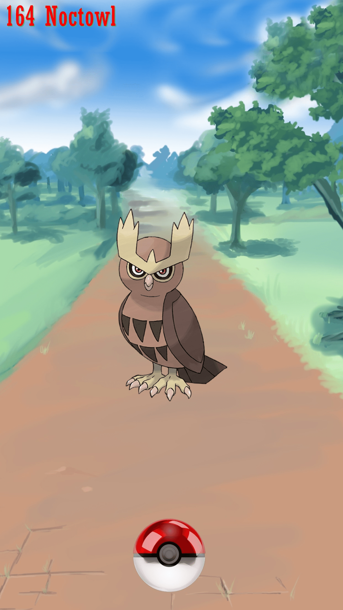 164 Street Pokeball Noctowl | Wallpaper