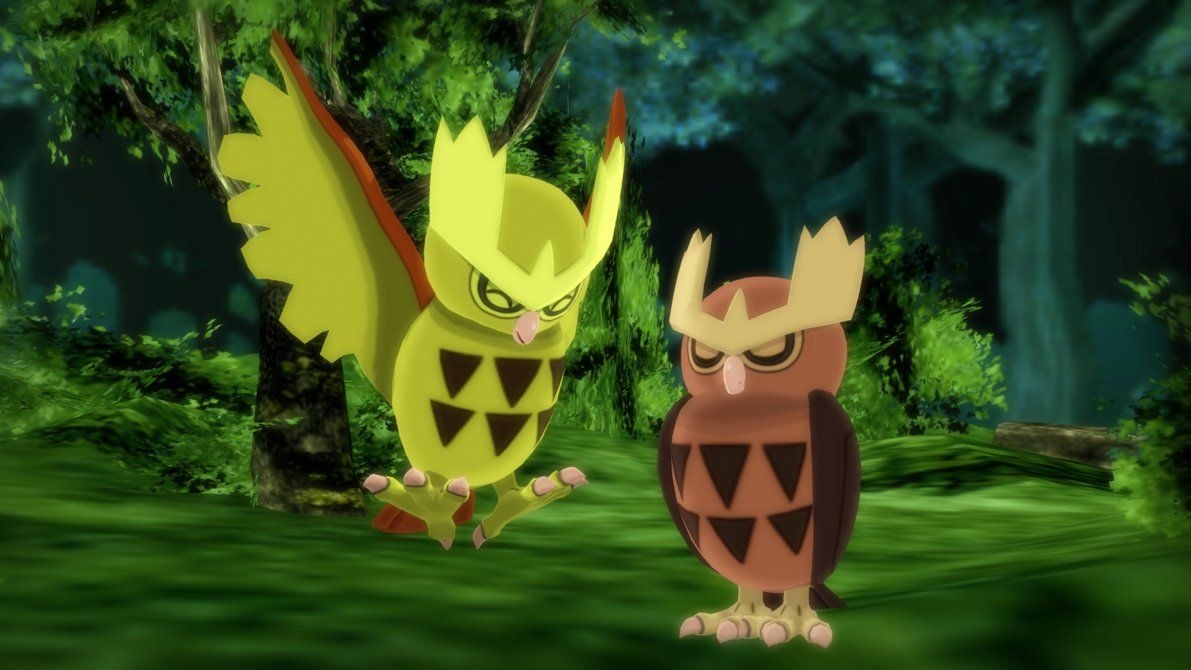 MMD PK Noctowl DL by 2234083174 on DeviantArt