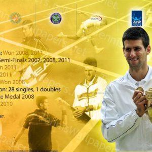 download Novak Djokovic Career Info Widescreen Wallpaper – Tennis Wallpapers
