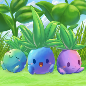 download Three colorful Oddish by aquabluu on DeviantArt