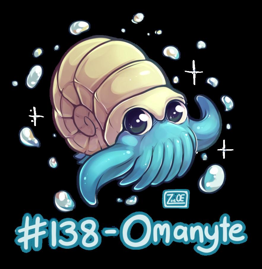 138 – Omanyte by oddsocket on DeviantArt
