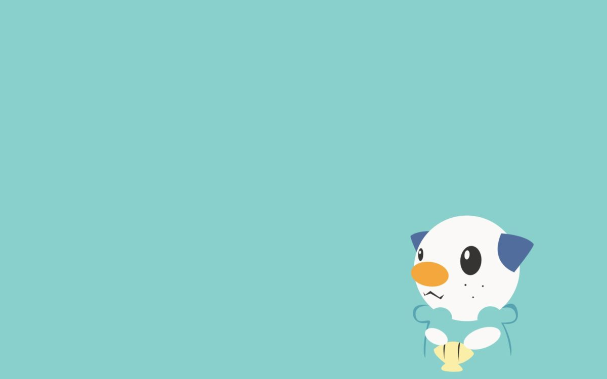 Oshawott, Minimalism, Blue Background wallpaper | anime | Wallpaper …