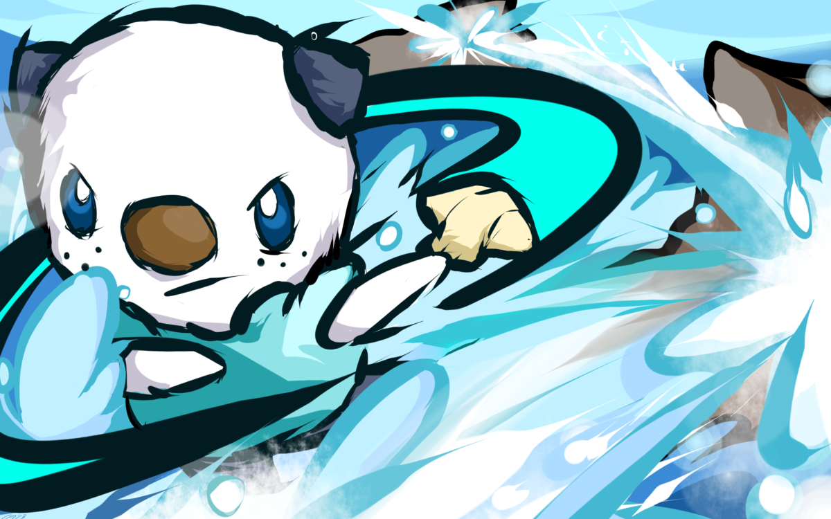 oshawott | oshawott razor shell by ishmam fan art digital art …