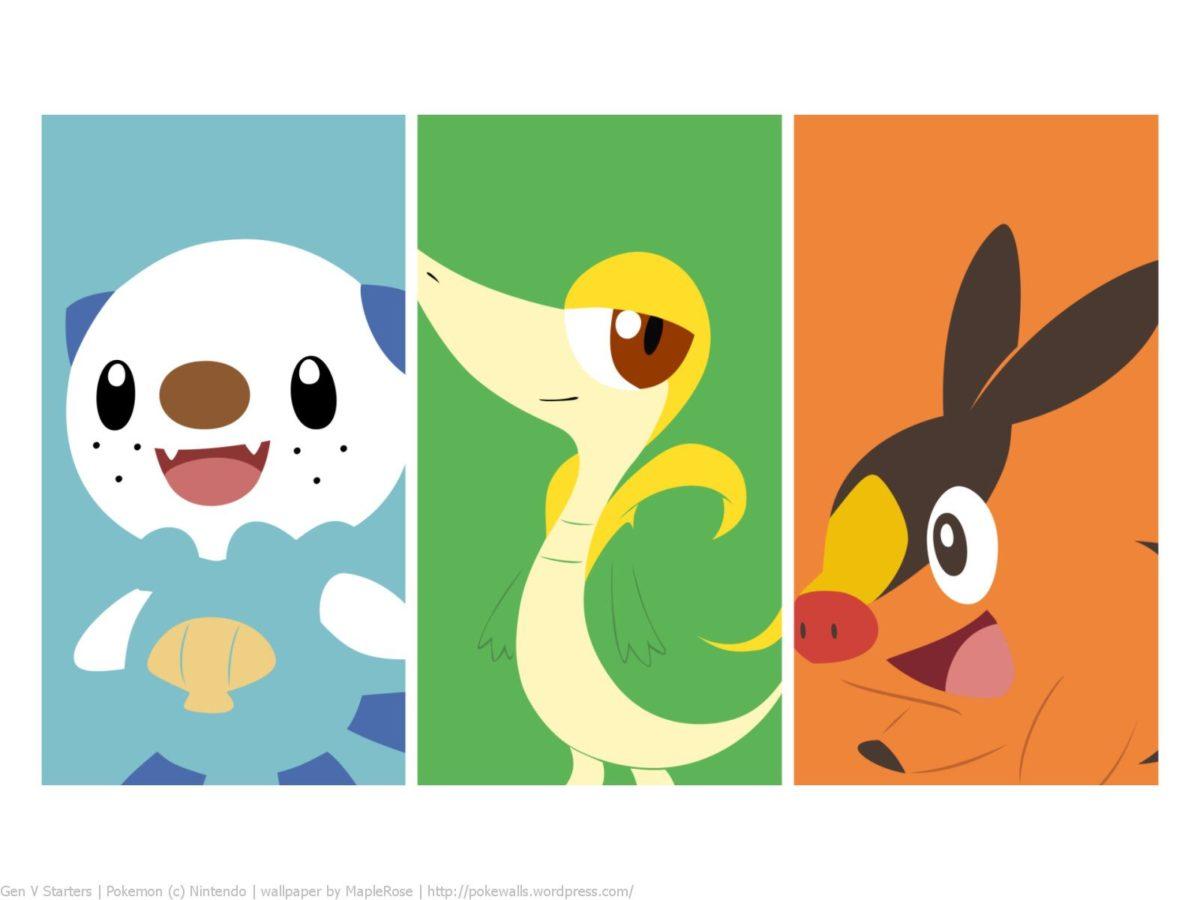 Pokemon gen 5 starters wallpaper. #snivy #tepig #oshawott | Pokémon …