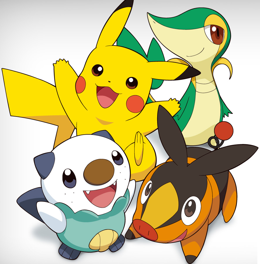Pikachu, Oshawott, Tepig and Snivy photo 12943057370032.png …