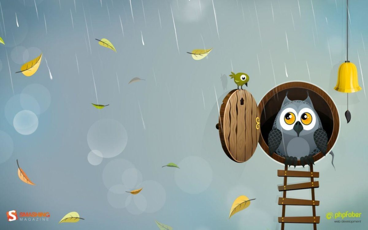 Wallpapers For > Cute Fall Owl Wallpaper