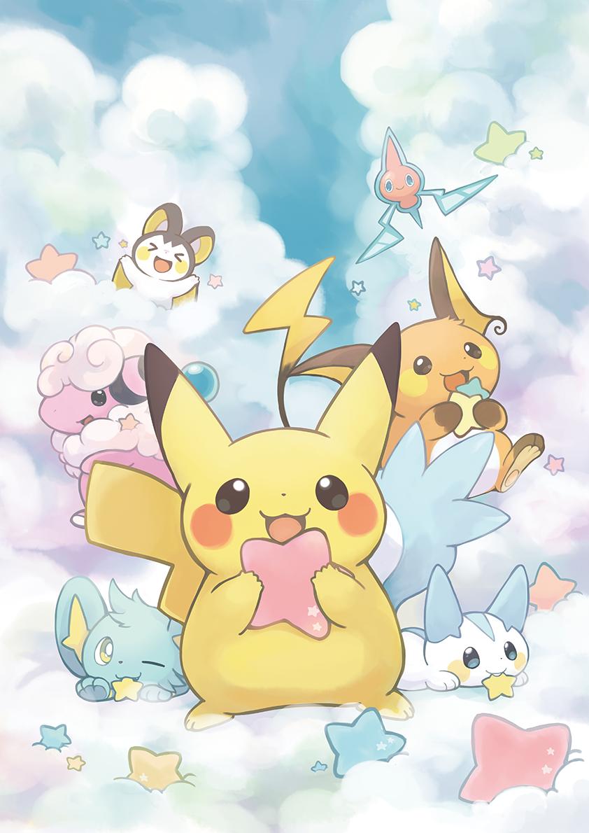 Pokémon, Pikachu, Shinx, Pachirisu, Raichu, Flaaffy, Rotom, Emolga …