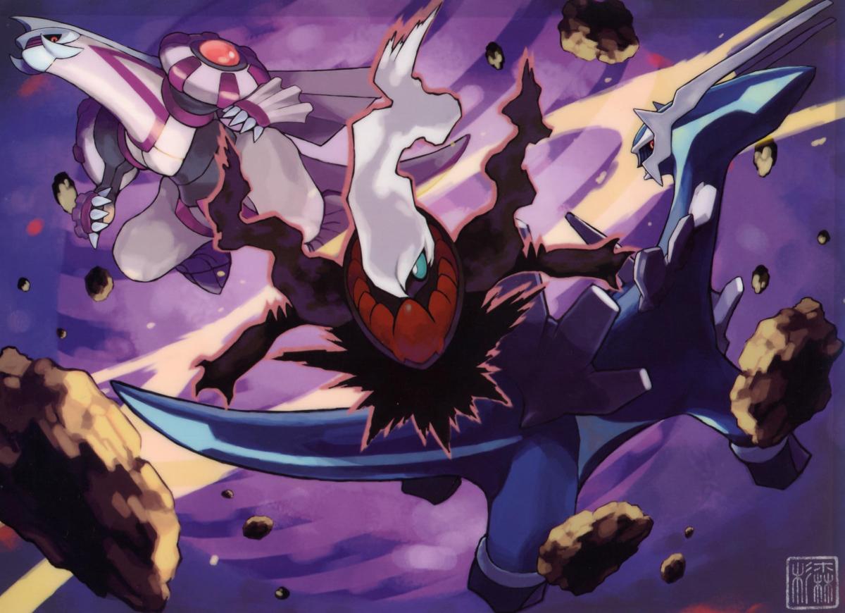 Image – Darkrai attacking Dialga and Palkia.png | Pokémon Wiki …