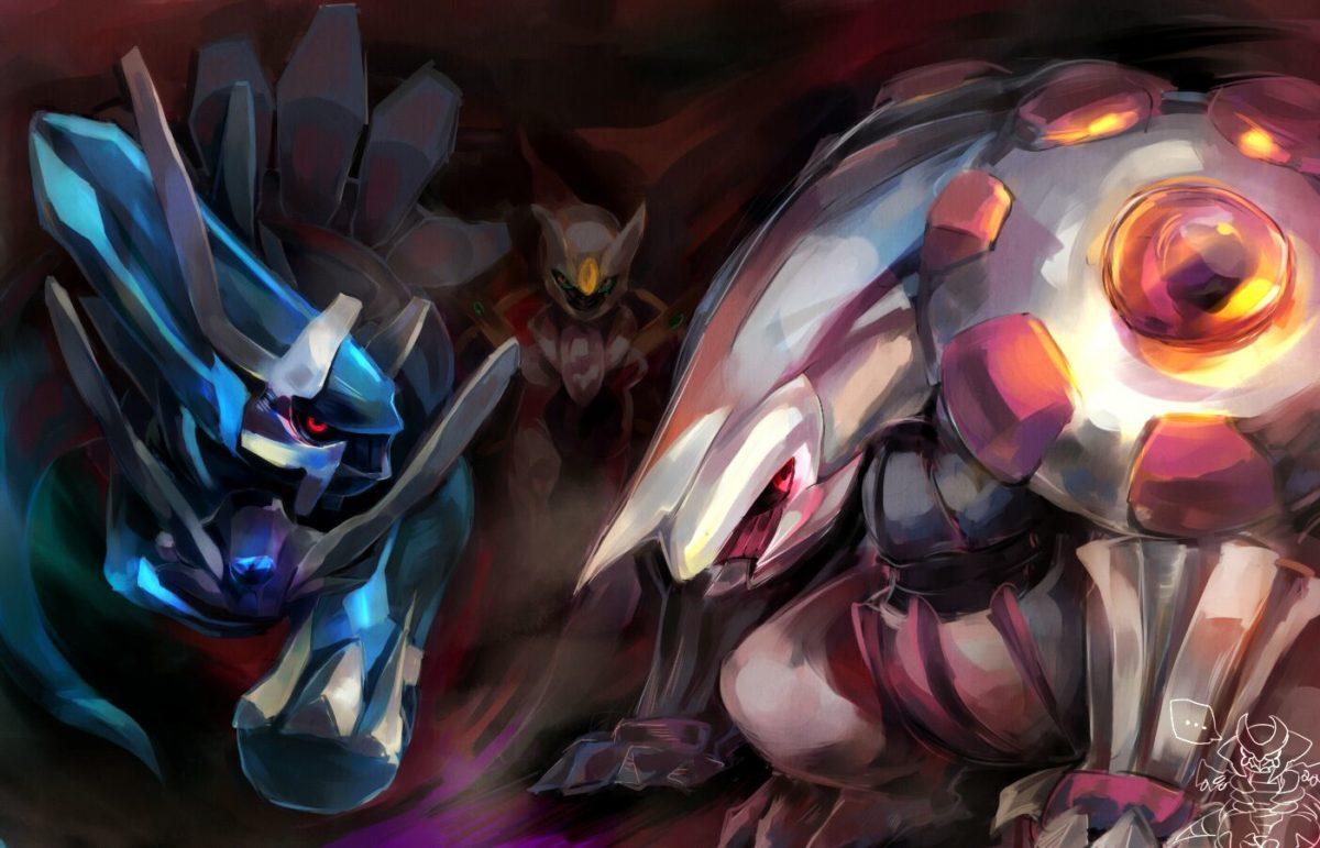 arceus, dialga, giratina, and palkia (pokemon) drawn by gn – Danbooru