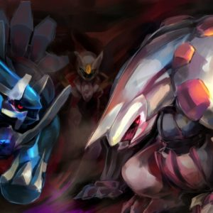 download arceus, dialga, giratina, and palkia (pokemon) drawn by gn – Danbooru