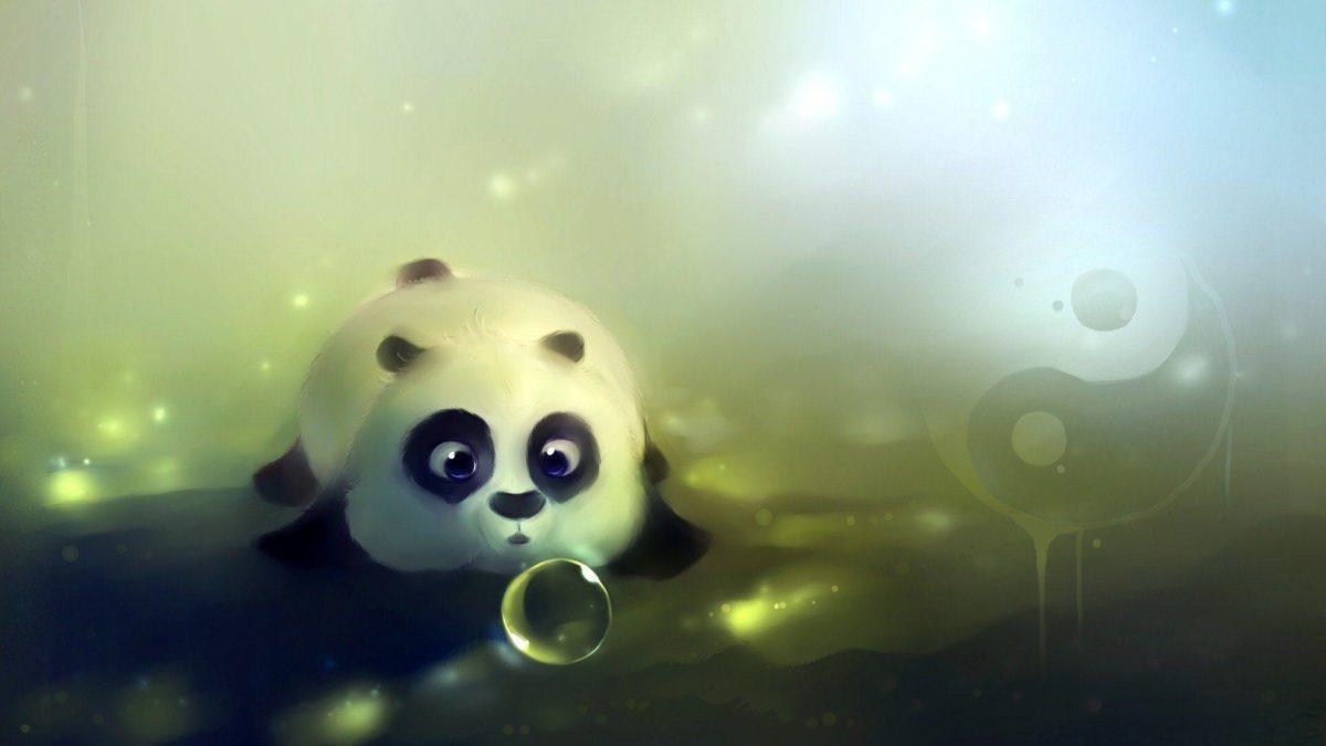 Cute Panda Bear Artwork HD Wallpaper – ZoomWalls