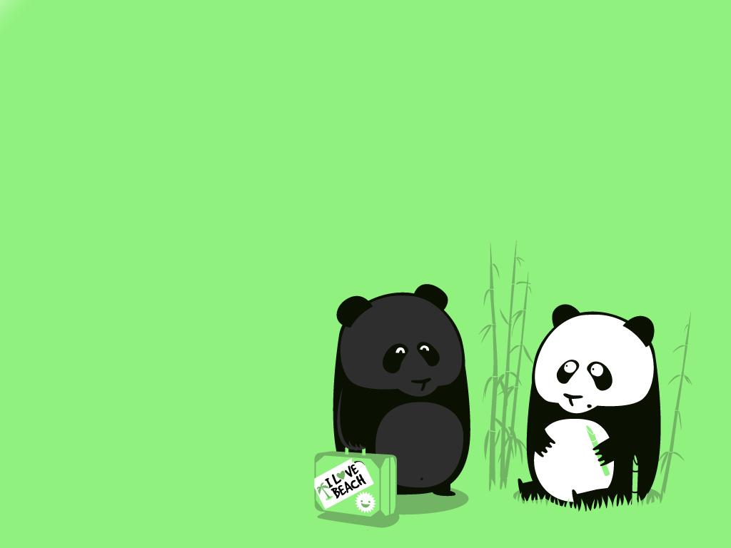 Animals For > Cute Panda Bear Cartoon Wallpaper
