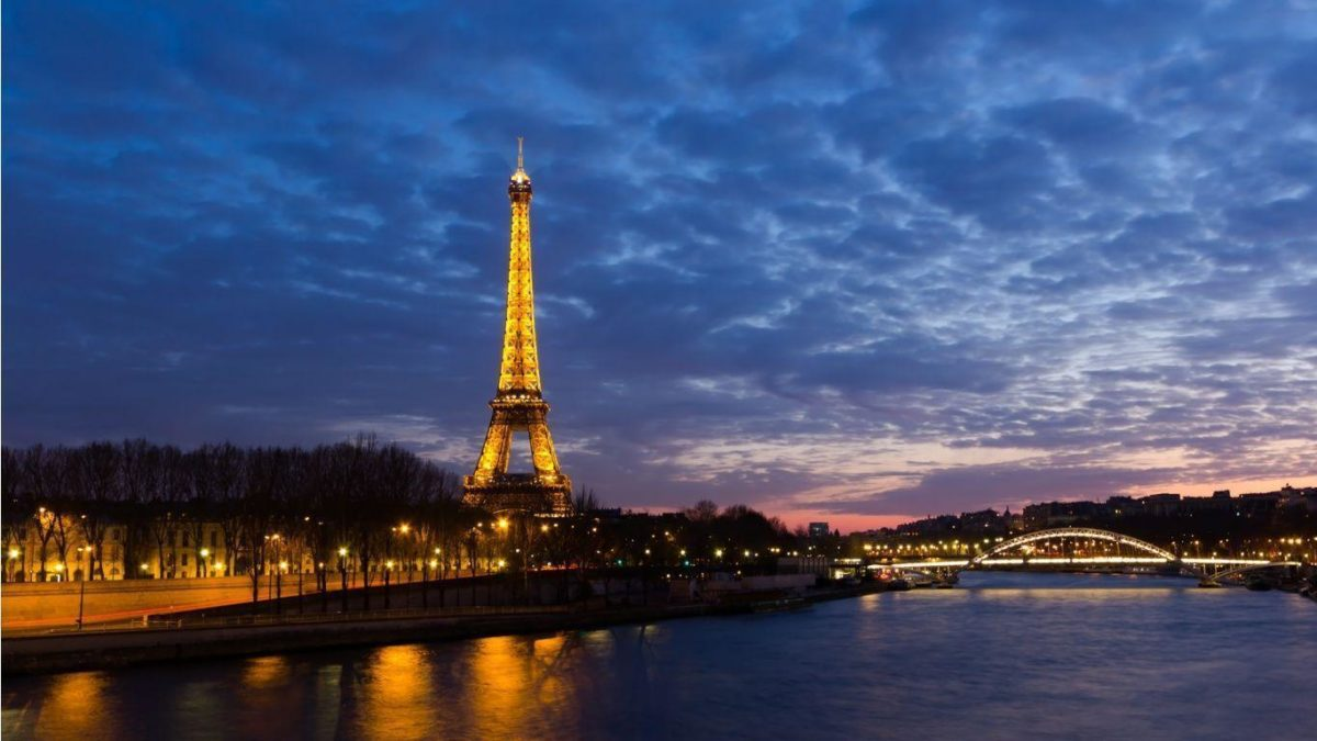 eiffel tower paris landscapes night seine desktop wallpaper