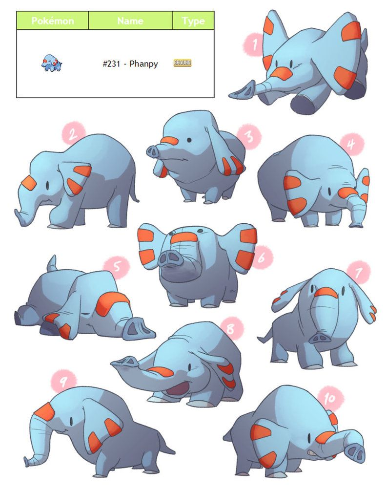 PokeDesign – Phanpy by TheAmoebic on DeviantArt