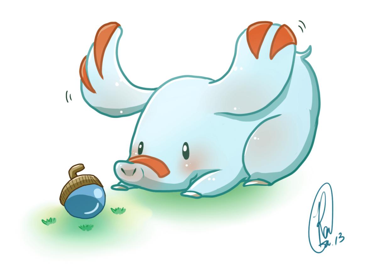 "pokedump: "" 231 – Phanpy It swings its long snout around playfully …"