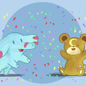 download Phanpy and Teddiursa Celebrate by DaILz on DeviantArt