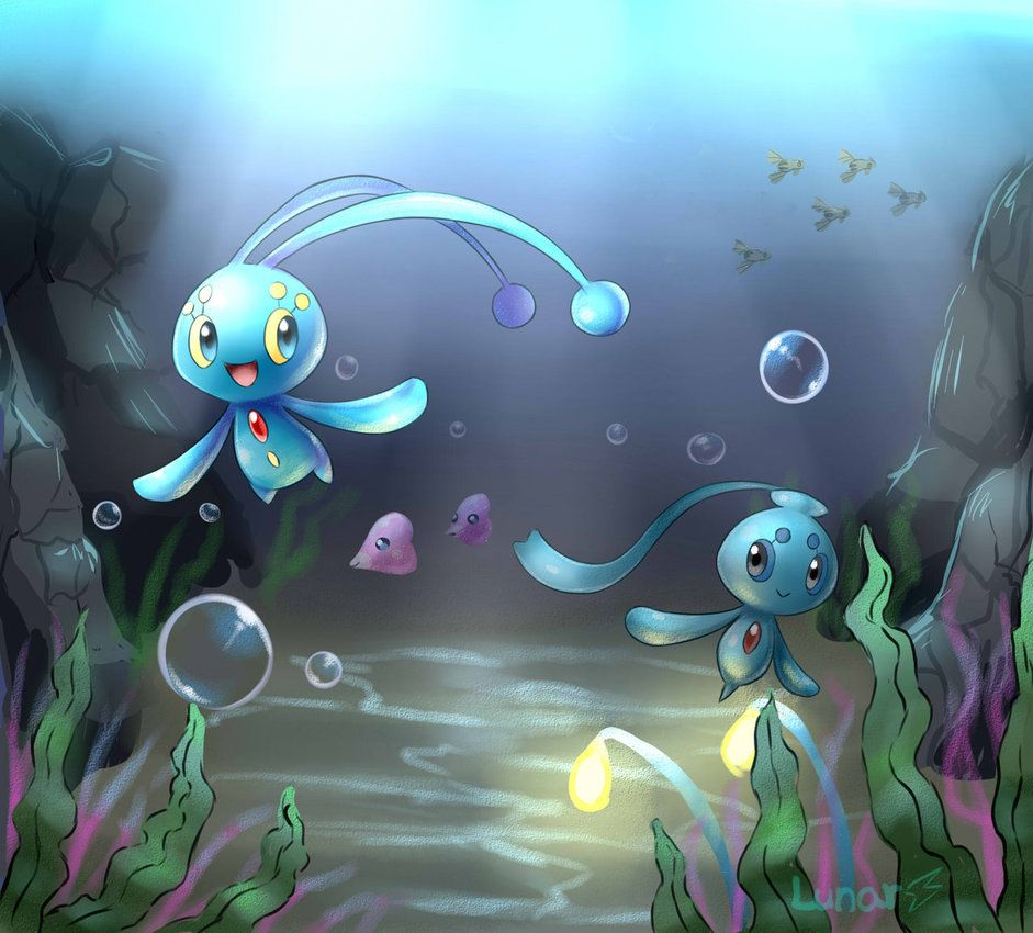 Manaphy and Phione by LunarThunderStorm on DeviantArt