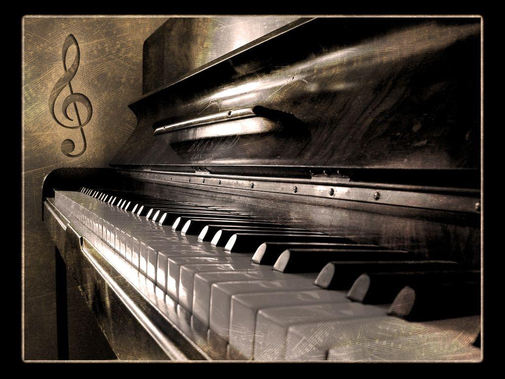 Wallpapers For > Vintage Piano Wallpaper