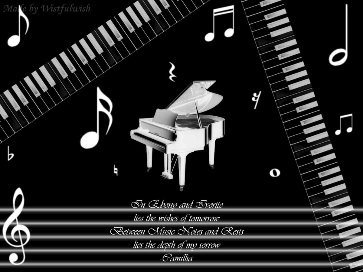 Wallpapers For > White Piano Wallpaper
