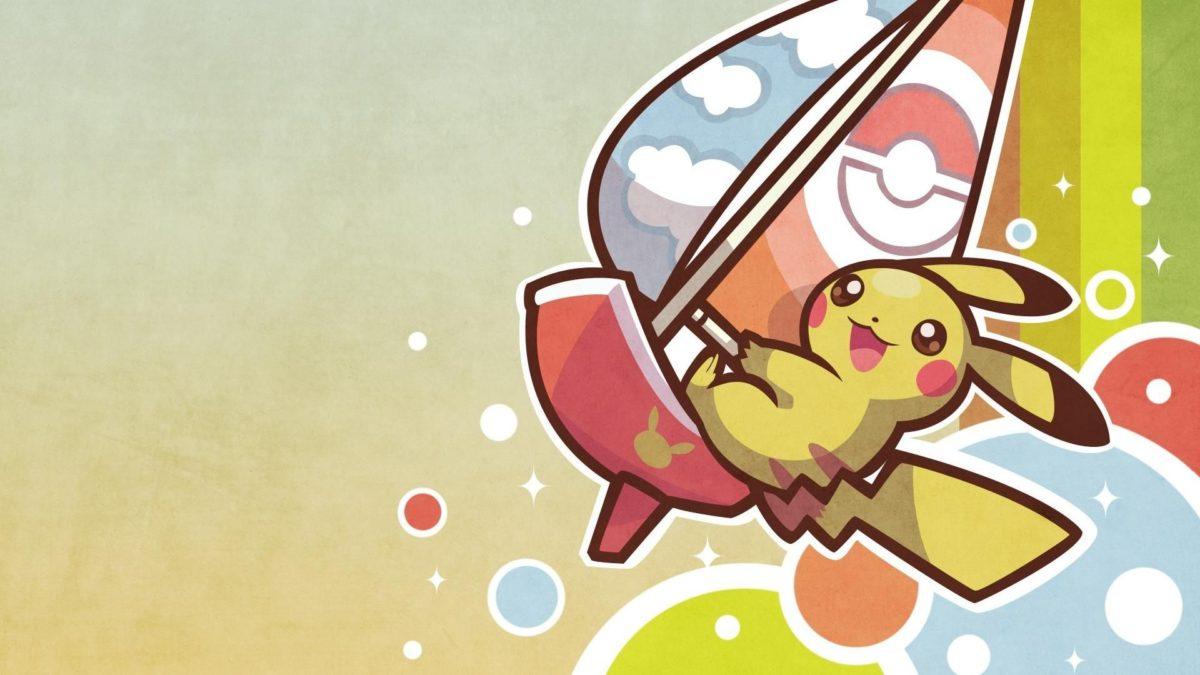 Pokemon video games pikachu surfing pichu wallpaper | (74977)