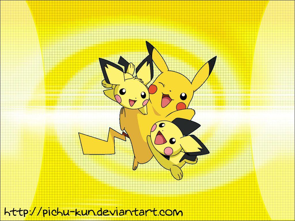 Wallpaper: Pichu-Pikachu by pichu-kun on DeviantArt