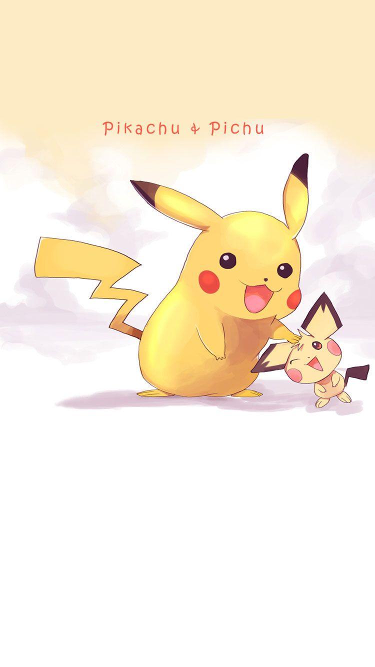 Pikachu-and-Pichu-iphone-wallpaper | Pokemon | Pinterest …