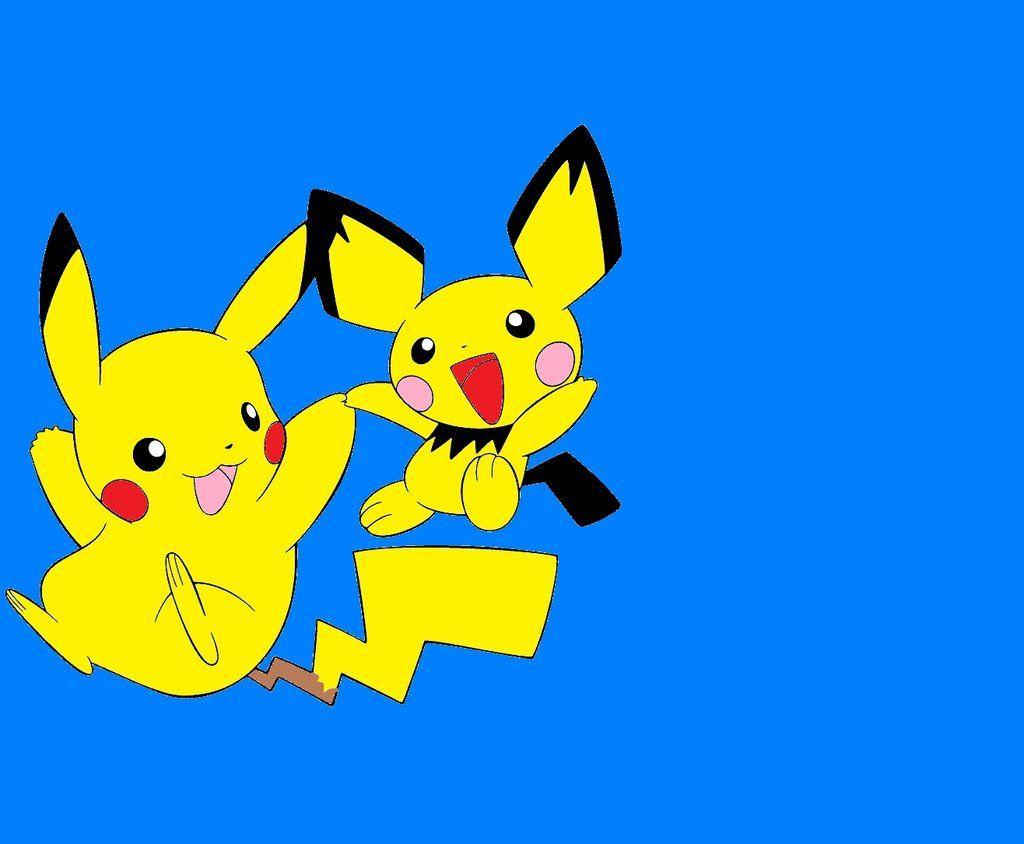 Pikachu and Pichu wallpaper by SonicMauriceHedgehog on DeviantArt