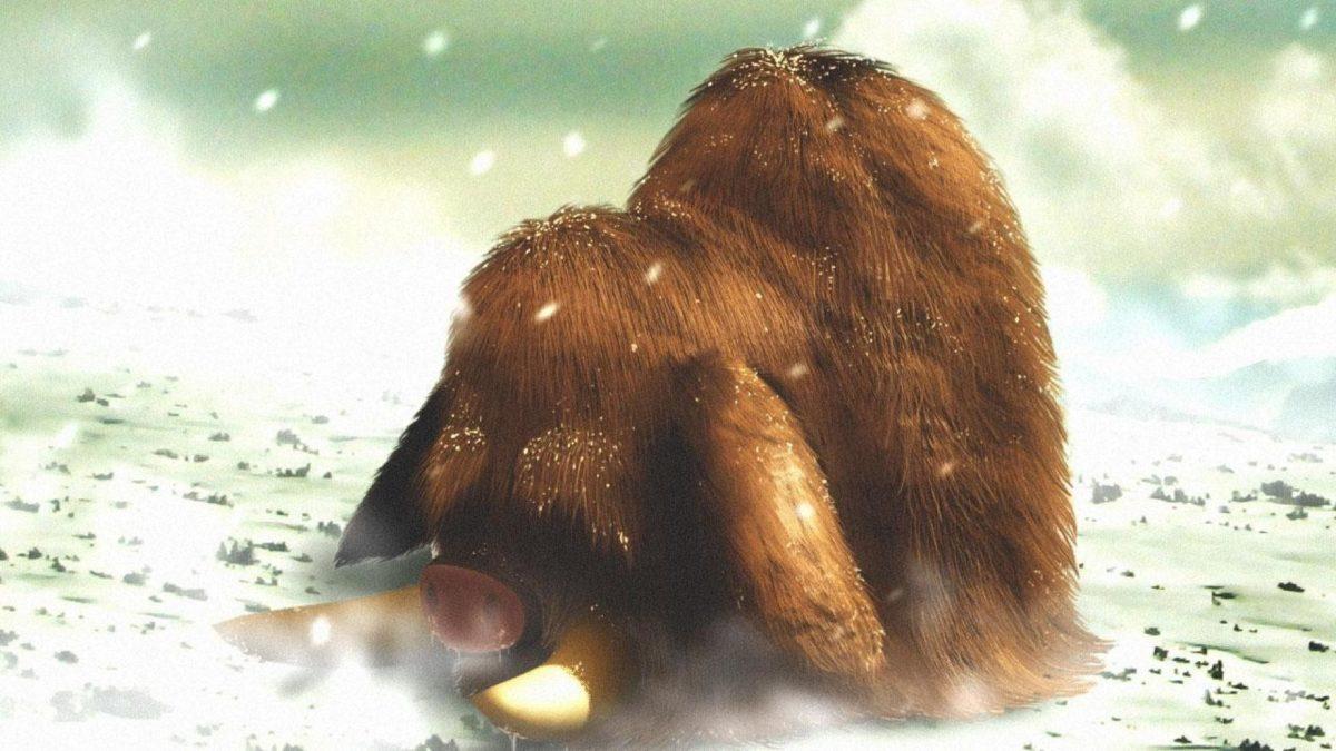 Snow digital art artwork mammoth snowing piloswine wallpaper | (106419)