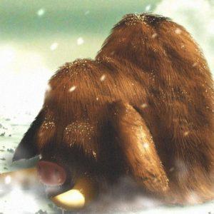 download Snow digital art artwork mammoth snowing piloswine wallpaper | (106419)