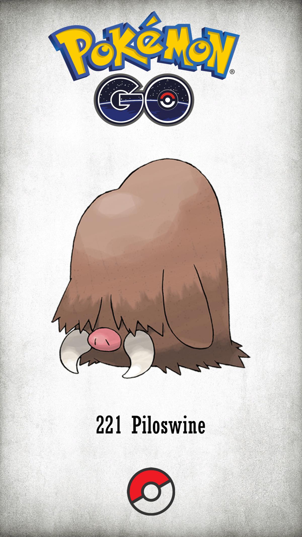 221 Character Piloswine | Wallpaper