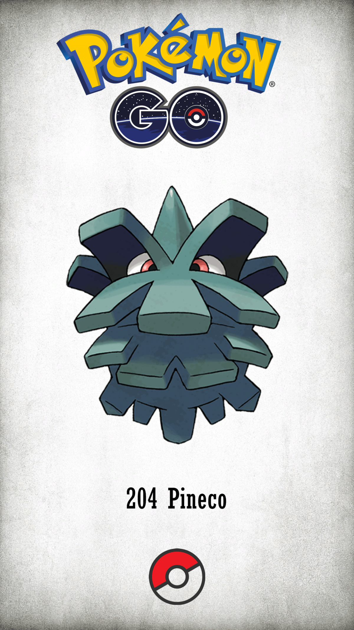204 Character Pineco | Wallpaper