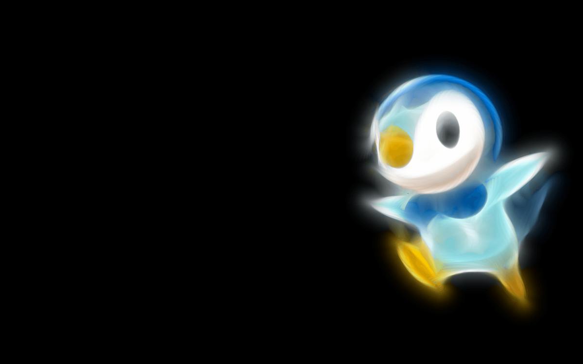 Pokemon, black background, Piplup – Free Wallpaper / WallpaperJam.com