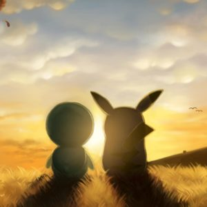 download pikachu and piplup sunrise #879501