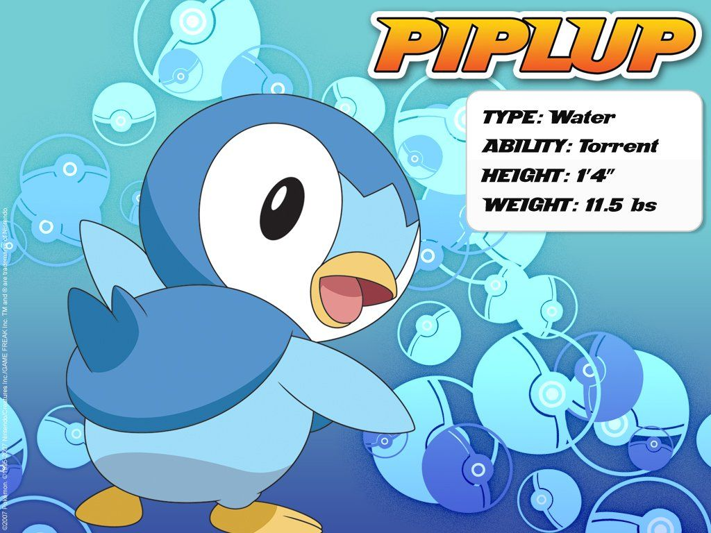 Download Pokemon – Piplup Wallpapers, Pictures, Photos and Backgrounds