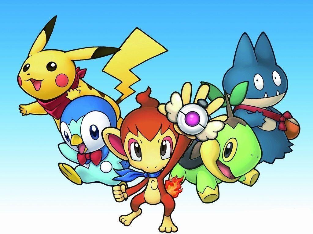 Pikachu, Piplup, Chimchar, Turtwig and Munchlax | Pokemon …