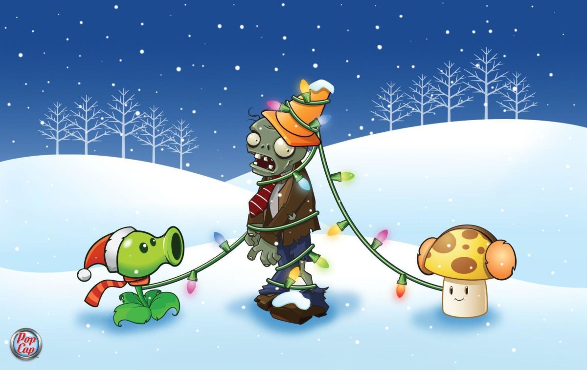 Would you like a Plants vs. Zombies Christmas wallpaper? – Ironhammers